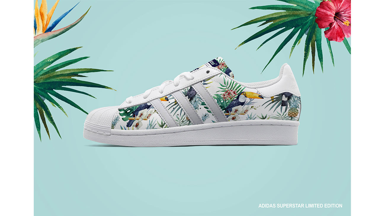 adidas_limited_edition_by_sara_gionetti_brand_graphic_design_fashion_costum_shoes_illustration_flower_tropical