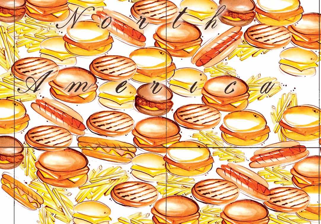 north-america-hamburger-food-chips
